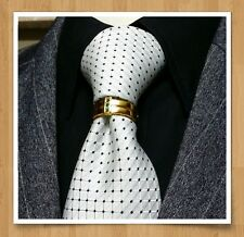 MENS TIE BLING CLASP CHARM EMERALD GREEN EURO T WEDDING GROOM GIFT 18K GOLD