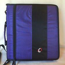 "Case It D-250 Purple 3-Ring Binder 2"" Zipper Handle Shoulder Strap Coupons"