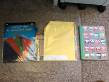 Lot Of 3 School/office Supplies Dividers and notepad