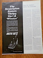1970 Arctic Cat 70 Snowmobile Ad The Suspension System Makes Her a Winner