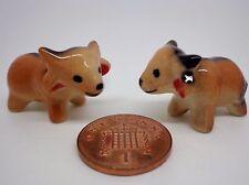 Céramique Vache X 2 Maison de poupées miniature animal, jardin, (aléatoire)