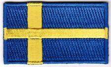 Sweden Flag Patch Embroidered Iron On Applique Swedish Swede