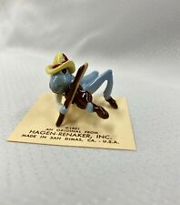 New ListingVintage Retired Hagen-Renaker- Blue Grasshopper w/ Fiddle figurine #244 - Rare