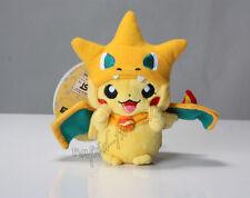 "Cute Pokemon Mega Charizard Y Pikachu Plush Doll Keychain Pendant Xmas Gift 6"""