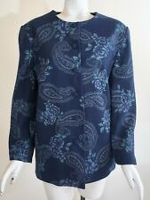 Alfred Dunner Women's Long Sleeve Lined Blue Paisley Blazer Suit Jacket, Size 10