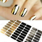 16 Silver Gold Black Foil Nail Art Sticker Gel Nail Patch Manicure Set Wrap Minx