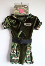 Girls' Major Cutie Camouflage Army Soldier Military Dress Bag Purse Sz 4-S  a6