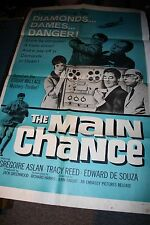 THE MAIN CHANCE Vintage Movie Poster 1964 Gregoire Aslan Tracy Reed