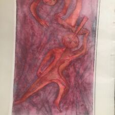 "Ruth Euster Berger (1915-1994) ""Toss Up"" #4 a/p 5 Drawing Abstract Signed"
