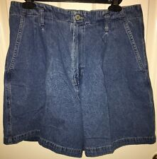 58b5057a58b Women s Westbound Pleated Denim Shorts Size 14 100% Cotton
