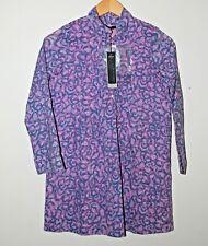 NEUF de la marque IKKS filles robe tunique 10 ans violet amovible ceinture