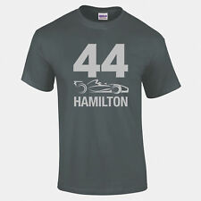 LEWIS HAMILTON 44 F1 COCHE Camiseta Logo plata corta y larga manga A 5xl