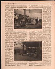 WWI Lavage Fusion Mélinite Laboratoire Lyon Séchoir Explosifs 1916 ILLUSTRATION
