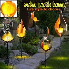LED Solar Light Path Torch Flame Lighting Garden Yard Pool Path Lamp 2V 40MA