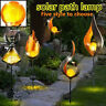 LED Solar Light Path Torch Flame Lighting Garden Yard Pool Path Lamp 2V 40MA