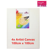 4 x Blank Artist Canvas Bulk Lots Wholesale Art Painting 100x100cmx16mm YW