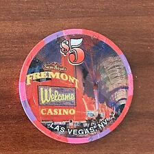 "New ListingFremont Downtown Casino $5 Casino Chip, ""Welcome"" 13th Edition, Las Vegas, Nv"