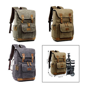DSLR SLR Camera Canvas Backpack Photography Backpack for Cannon/Nikon/Sony