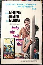 baby the rain must fall 65' Original 27X41 LINEN Mounted Movie Poster S. McQueen