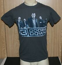 3 DOORS DOWN 2009 Concert Tour Distressed Look T-Shirt Size Small Used
