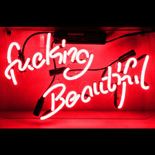 14''x9''Fvcking Beautiful Neon Sign Light Party Home Room Wall Decor Visual Art