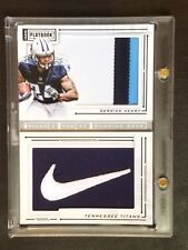 TRUE 1 of 1 - DERRICK HENRY 2016 Playbook NIKE Swoosh & 3 Color Patch 1/1 RC