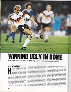 Sports Illustrated World Cup GERMANY Wins 1990 World Cup Article FUTBOL Soccer