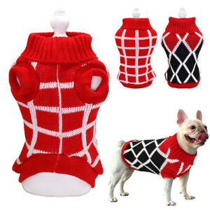 French Bulldog Dog Knitted Winter Sweater Coat Pet Cat Puppy Vest Clothes Yorkie