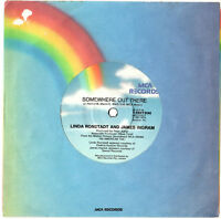 """LINDA RONSTADT JAMES INGRAM - SOMEWHERE OUT THERE (AMERICAN TAIL) - 7"""" 45 RECORD"""