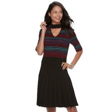 Stripes Juniors Size Short Sleeve Sweater Dresses Ebay