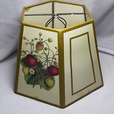 Vintage Fruits Design Parchment Lamp Shade 6 Sided  6- 1/2 inch Tall