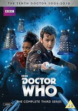 Doctor Who: la Completa Third Series DVD Box Set Nuevo Temporada 3 3rd 10 Dr.