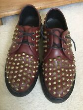 Very Rare Doc Martens Harlen Oxblood/cherry Red Leather Shoes Uk7/41 1461