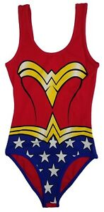 Girls Wonder Woman One Piece Swimsuit with Detachable Red Cape | M 9/10 (28)