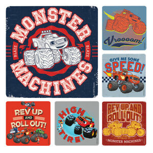 Blaze Stickers x 6 - Birthday Party Supplies Favours Loot Monster Machines Truck