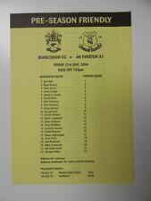 More details for burscough v everton   2006/2007   friendly   21 jul 2006   uk freepost