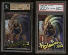 1998-99 Topps Chrome INSTANT IMPACT REFRACTOR Vince Carter RC LOT BGS 9.5 PSA 10