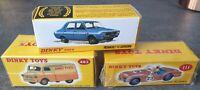 3 Dinky Atlas Renault 12 Gordini, Bedford Dinky Toys Van, Triumph TR2 Sports Car