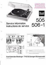Service Manual-Anleitung für Dual 505, 506-1