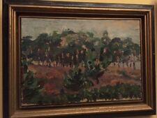 Antikes Expressionismus Gemälde Öl Leinwand Landschaft Original