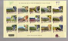 foglietto francobolli  vino DOCG 12 valori  2012