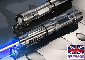 BX6-A 1MW Flashlight 450nm Blue Laser Pointer Visible Lazer Pen & 5 Star Caps UK