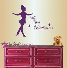 Vinyl Decal My Little Ballerina Dancing Girl Ballet Nursery Wall Sticker 356