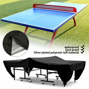 Indoor Outdoor Folding Ping Pong Tables Cover Table Tennis Cover Size 65x27.5x72.8in Use Quality 600D Heavy-Duty Waterproof Oxford Fabric Make