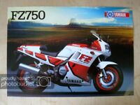 YAMAHA FZ750 MOTORCYCLE Sales Specification Leaflet 1987 #LIT-3MC-0107922-87E