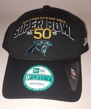 0528e1ba625 New Era 9FORTY Carolina Panthers Adjustable Hat Super Bowl 50 Patch New Hat  Cap