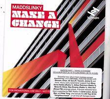 Maddslinky ( Zed Bias) Make A Change. 14 track  PROMO CD album.