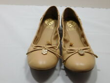 New! $99 Vince Camuto Beige Genuine Leather Ballet Flats.....7 B/ 37.5 EUR