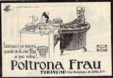 Pubblicità vintage poltrona Frau Torino werbung old advertising reklame A4