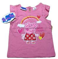 NWT Girls TV Peppa Pig Pink Bubbles Tunic Top Graphic Short Set Sz 12//18M-5T